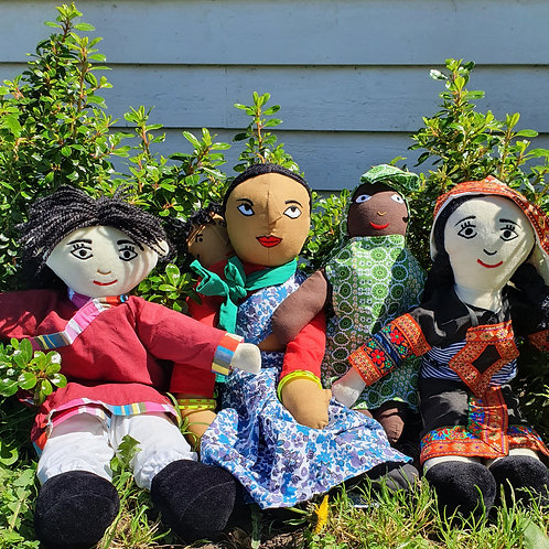 4 Pc Multi-Cultural Doll Set
