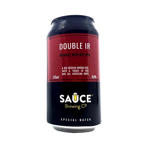 Sauce Brewing Double Red Rye IPA 8% Can 375mL