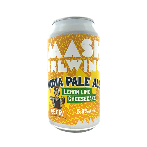 Mash Brewing Lemon Lime Cheesecake Beer 5.8% Can 375mL