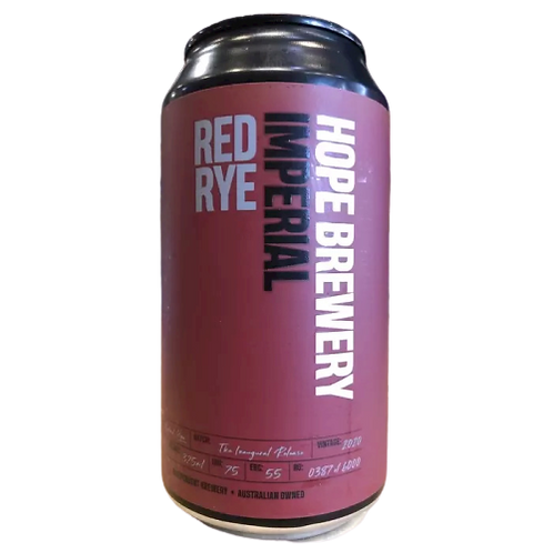 Hope Brewery Imperial Red Rye 9% Can 375mL