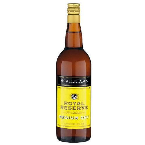 McWilliams Royal Reserve Medium Dry Apera Btl 750mL