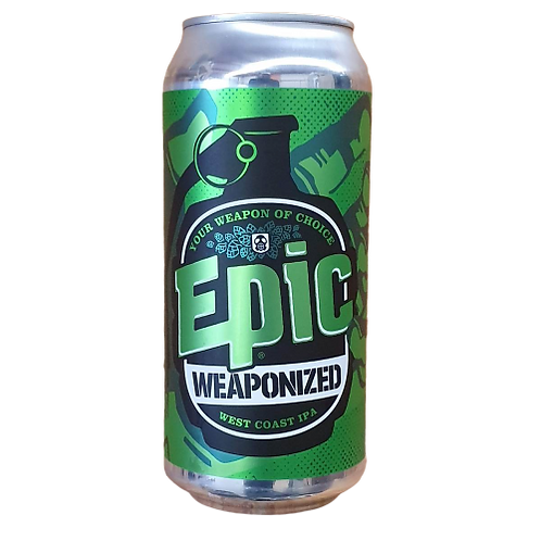 Epic Weaponized West Coast IPA 7% Can 440mL