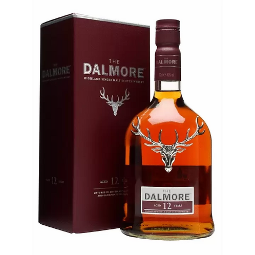 The Dalmore 12 Year Old Highland Single Malt Scotch 40% Btl 750mL