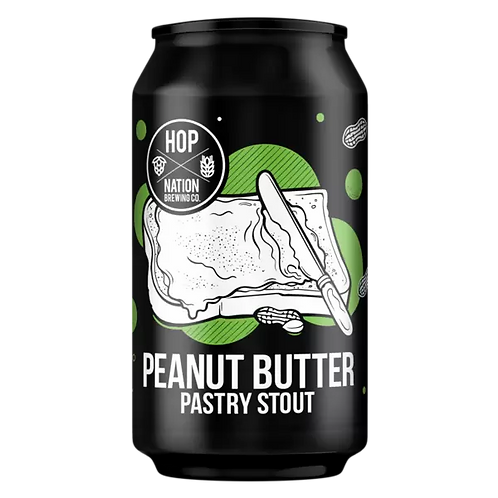 Hop Nation Peanut Butter Pastry Stout 6% Can 375mL