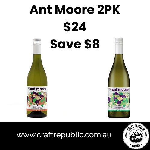 Ant Moore Mixed 2 Pack (Sauv. Blanc & Pinot Gris)