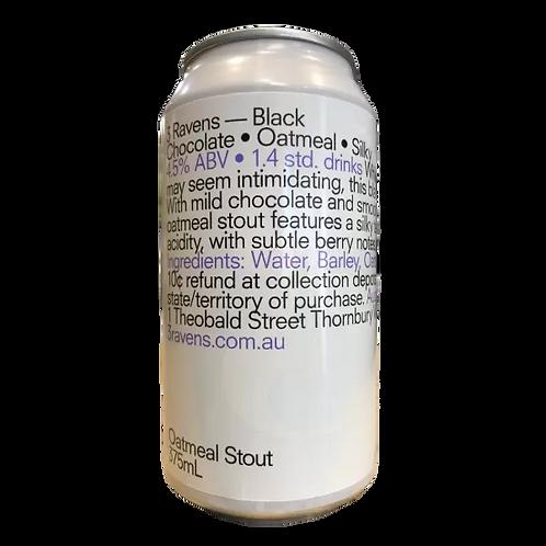 3 Ravens Black Chocolate Oatmeal Stout 4.5% Can 375mL