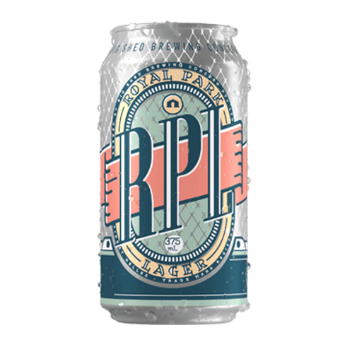 Big Shed Royal Park RPL Lager 5% Can 375mL