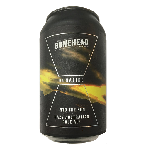 Bonehead Brewing Into the Sun Australian Hazy Pale Ale 5.8% Can 375mL