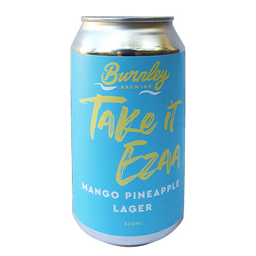 Burnley Brewing Take it Easy Mango Pineapple Lager 5% Can 355mL