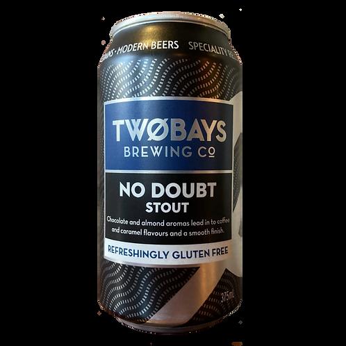 Two Bays Stout No Doubt Gluten Free 6.2% 375mL