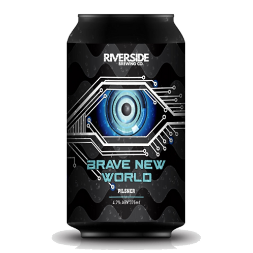 Riverside Brewing Co Brave New World Pilsner 4.7% Can 375mL
