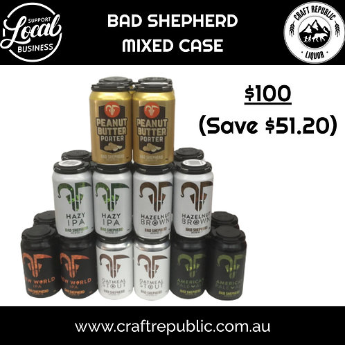 Bad Shepherd Craft Beer Mixed Cans Slab 24 x 355mL
