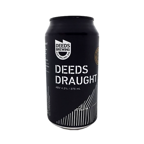 Deeds Brewing Draught 4.2% Can 375mL