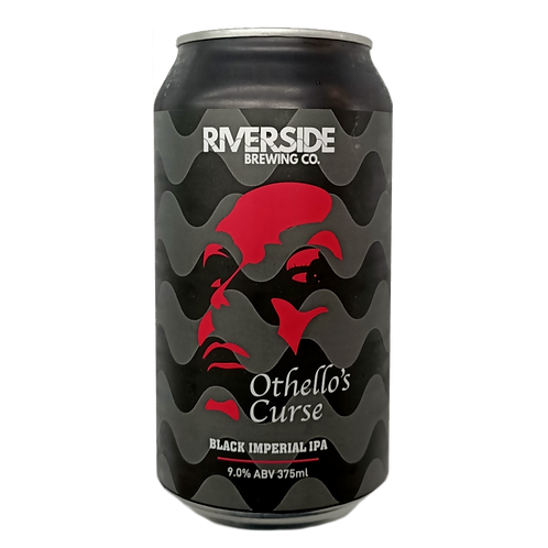 Riverside Brewing Co Othello's Curse Black Imperial IPA 9% Can 375mL