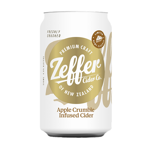 Zeffer Cider Co Apple Crumble Infused Cider 5% Can 330mL