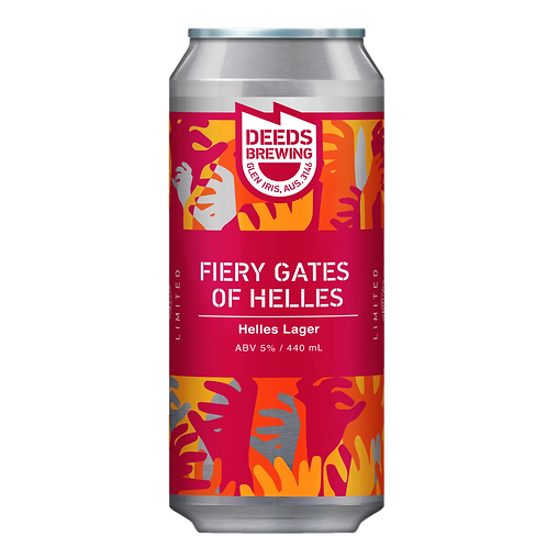 Deeds Brewing Fiery Gates of Helles - Helles Lager 5% Can 440mL