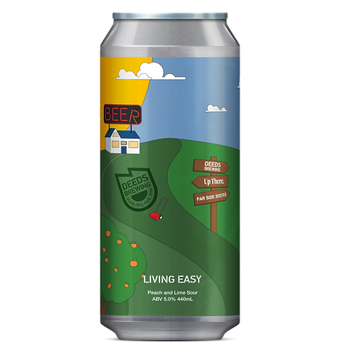 Deeds Brewing Living Easy Peach & Lime Sour 5% Can 440mL