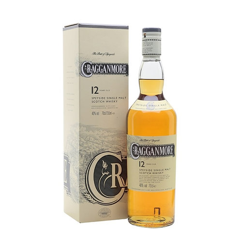 Cragganmore 12 Year Old Speyside Single Malt Scotch Whisky 40% 700mL