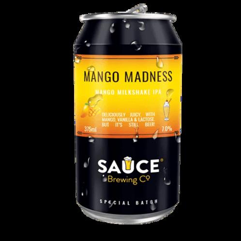 Sauce Brewing Mango Madness Milkshake IPA 7% Can 375mL