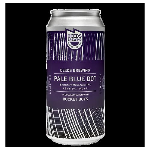 Deeds Brewing x Bucket Boys Pale Blue Dot Blueberry Milkshake IPA 6.5% Can 440mL