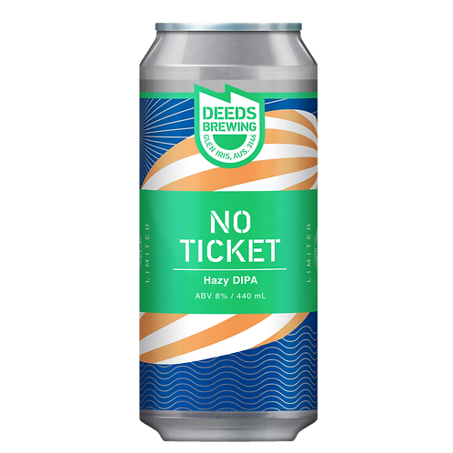 Deeds Brewing No Ticket Hazy DIPA 8% Can 440mL