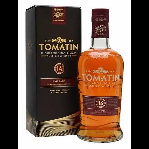 Tomatin 14 Year Old Port Wood Single Malt Scotch Whisky 46% 700mL