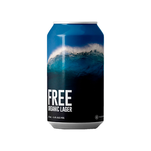 Free Brewing Co Organic Lager 4.4% Can 375mL