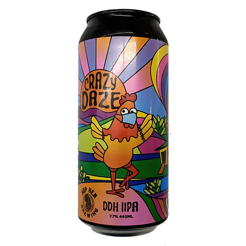 Hop Hen Brewing Crazy Daze DDH DIPA 7.7% Can 440mL