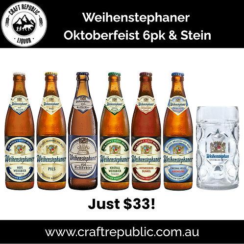 Weihenstphaner Oktoberfeist 6 pack DEAL 500mL & Bonus Stein
