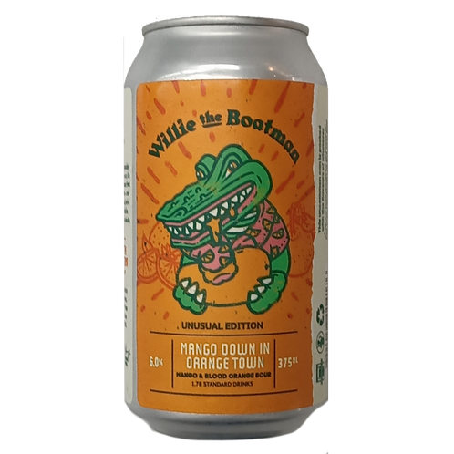 Willie the Boatman Mango down in Orange Town Sour 6% Can 375mL