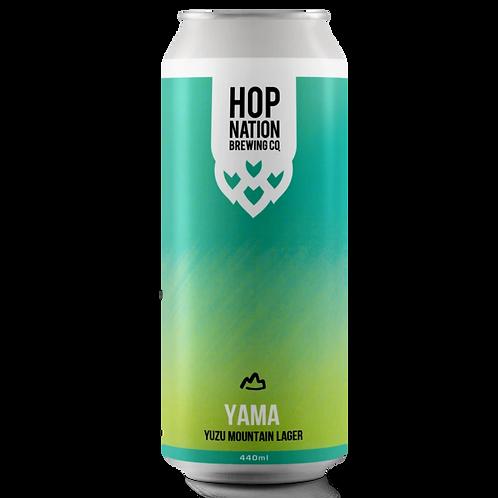 Hop Nation Lager Yama Yuzu Mountain 440mL 4%