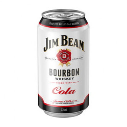 Jim Beam Bourbon & Cola 4.8% Can 375mL