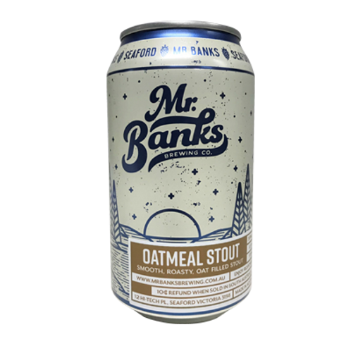 Mr Banks Oatmeal Stout 5.5% Can 355mL