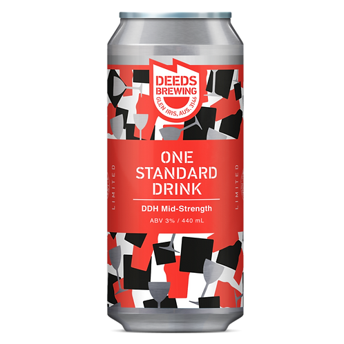 Deeds Brewing One Standard Drink DDH Mid-Strength 35 Can 440mL