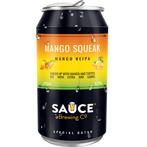 Sauce Brewing Mango Squeak NEIPA 6.5% Can 375mL