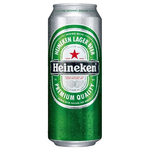 Heineken Fully Imported (Dutch) Pure Malt Lager 5% Can 500mL