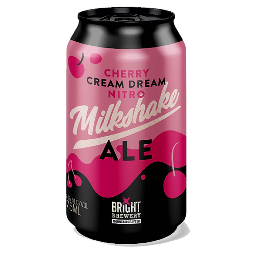 Bright Brewery Cherry Cream Nitro Milkshake Ale 5.7% Can 355mL