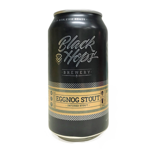 Black Hops Brewery Eggnog Stout 5.8% Can 375mL