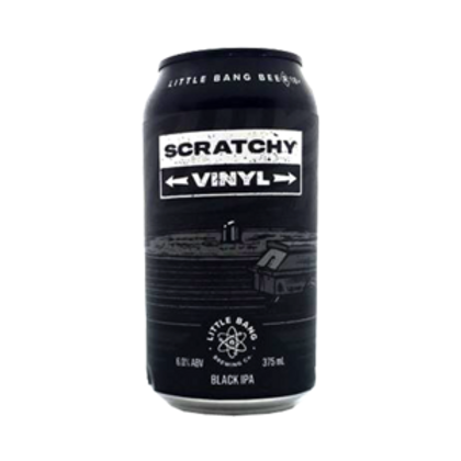Little Bang Scratchy Vinyl Black IPA 6% Can 375mL