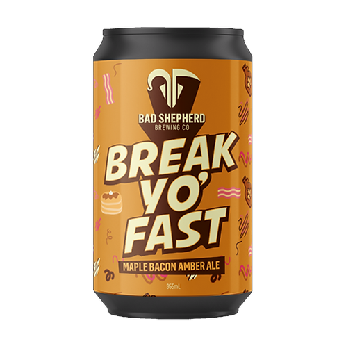 Bad Shepherd Break Yo Fast Maple Bacon Amber Ale 5% Can 355mL