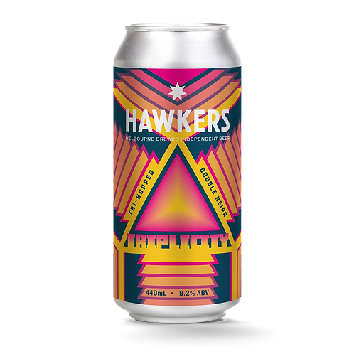 Hawkers Beer Triplicity Double NEIPA  8.2% Can 440mL