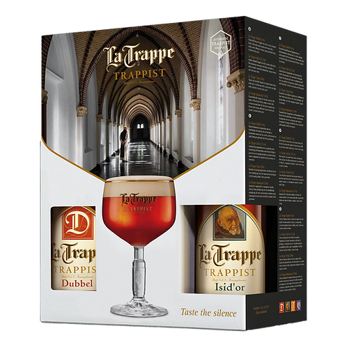 La Trappe Glass & 4 Beers Gift Pack 330mL
