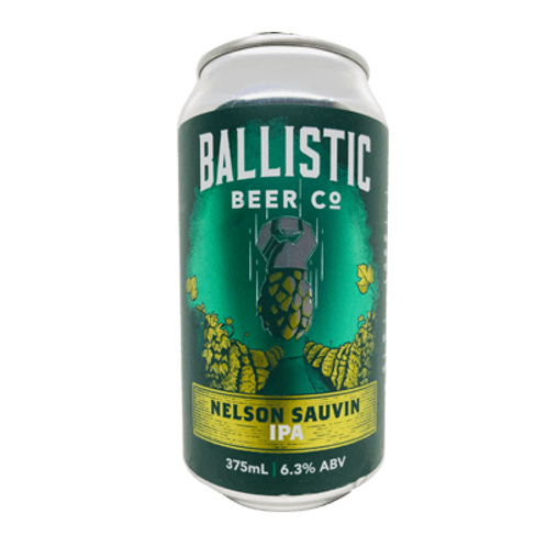 Ballistic Beer Co Nelson Sauvin IPA 6.3% Can 375mL