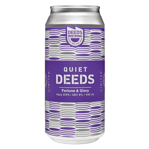Deeds DIPA Fortune & Glory Hazy 8% Cans 440mL