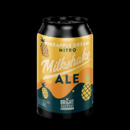 Bright Brewery Pineapple Dream Nitro Milkshake Ale 6.2% Can 355mL