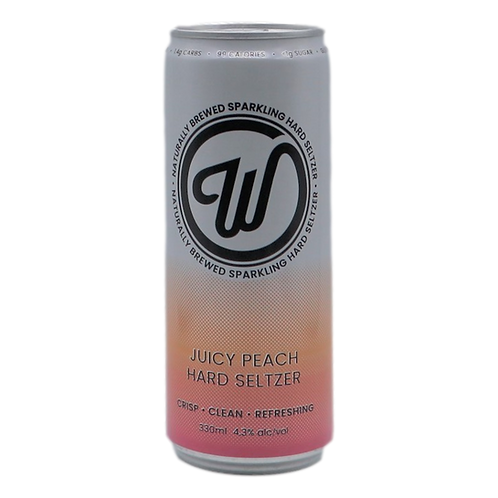 W Seltzer Tropical Juicy Peach 4.3% Can 330mL