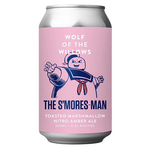 Wolf Of The Willows Amber Ale 355ml The S'mores Man 6.2%