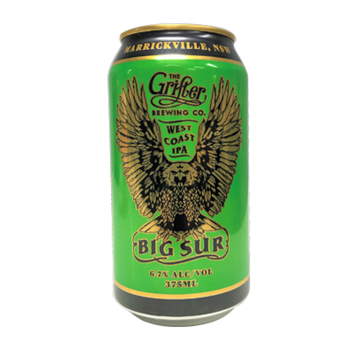 Grifter Brewing Co Big Sur West Coast IPA 6.7% Can 375mL