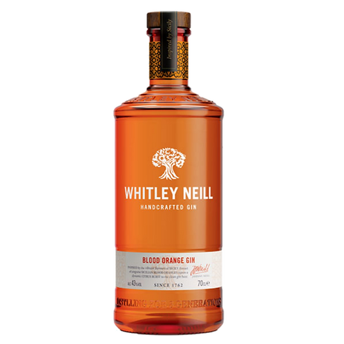 J J Whitley Neill Blood Orange Gin 43% Btl 700mL