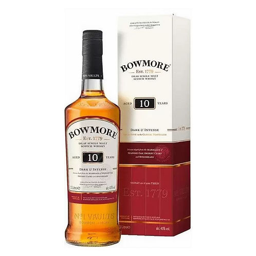 Bowmore 10 Year Old Islay Single Malt Scotch Whisky 700mL